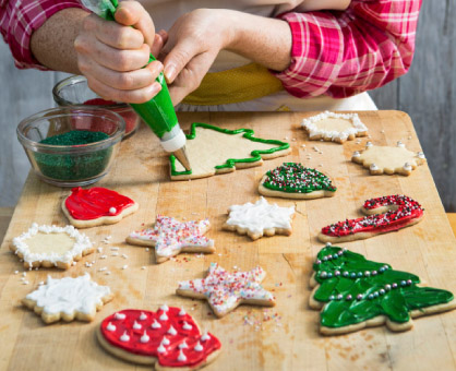 Admirable 5 Holiday Cookie Decorating Ideas Inspired Cooks Easy Diy Christmas Decorations Tissureus