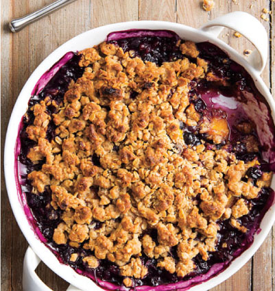 Blueberry-Mango Crisp