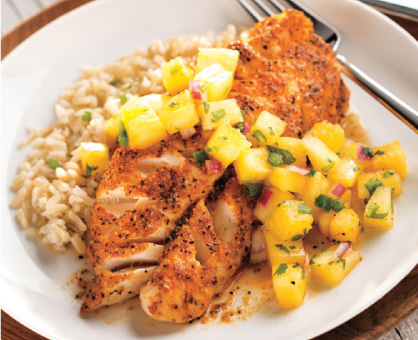 Grilled Fish with Pineapple-Jalapeño Salsa