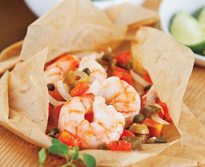 Grilled Shrimp Packets