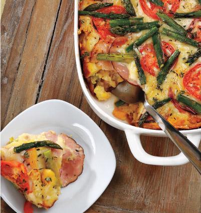 Ham, Asparagus & Gruyère Strata