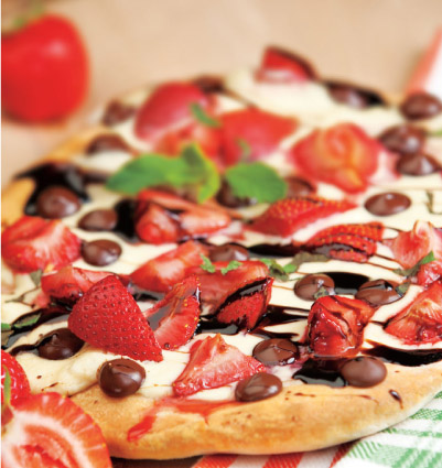 Strawberries & Cream Dessert Pizza