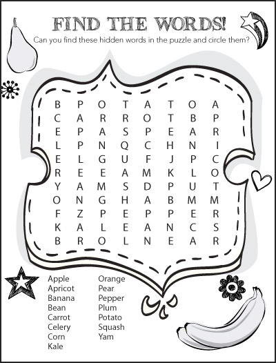 Kids Zone - Wordsearch2
