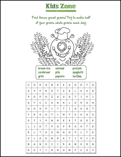 Kids Zone - Wordsearch