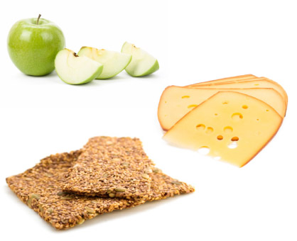Apple + Cheese + Flaxseed Crackers