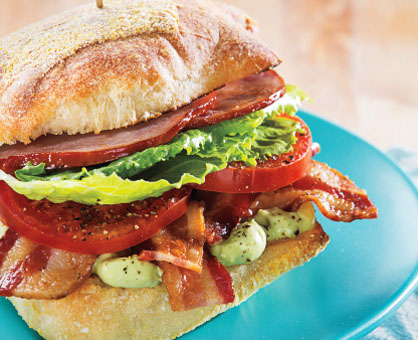 BBLT Sandwich with Avocado-Mayo