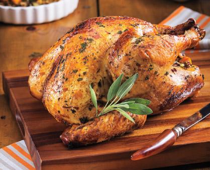 Stuffed Turkey with Sage Gravy