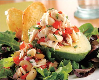 Tuscan Tuna, White Bean and Avocado Salad
